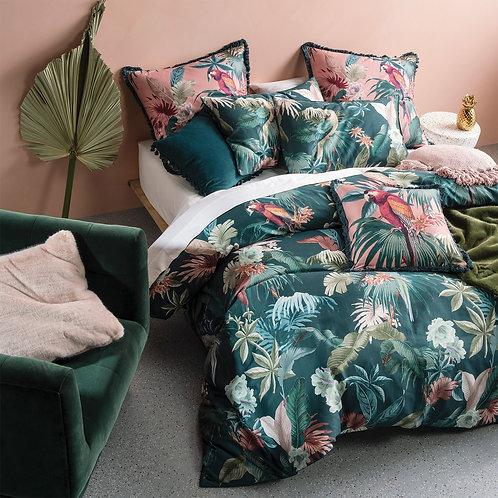 Fernanda Jungle Parrot Duvet Set By Linen House 100% Cotton Double