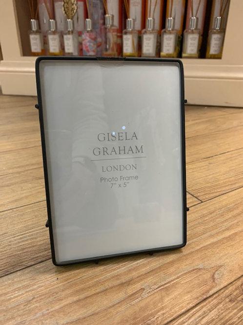 "Gisela Graham Black Metal Photo Frame 7""x5"""