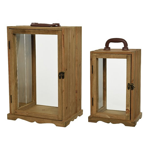 Small Firwood Lantern with Handle