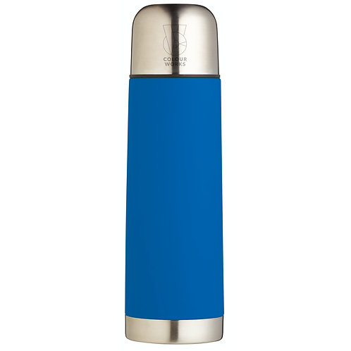 Colourworks Stainless Steel Vacuum Flask - Blue