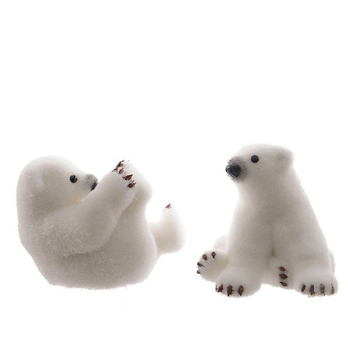 The Cutest Plush Polar Bear with his feet in the Air