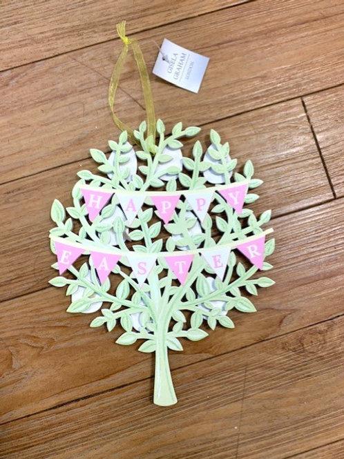 "Gisela Graham Wooden Reversible Hanging Sign ""Happy Easter"""