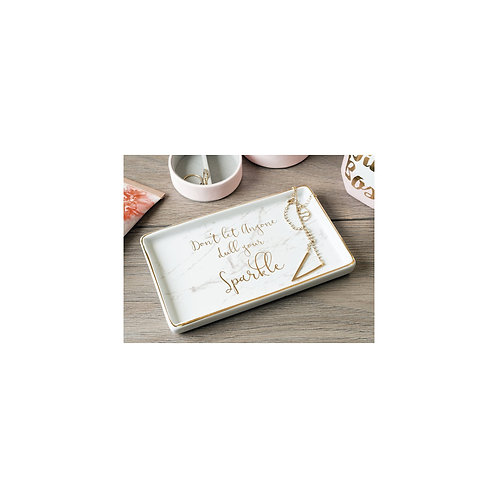 """Ava & I Rectangle Trinket Dish - """"Don't Let Anyone Dull Your Sparkle"""""""