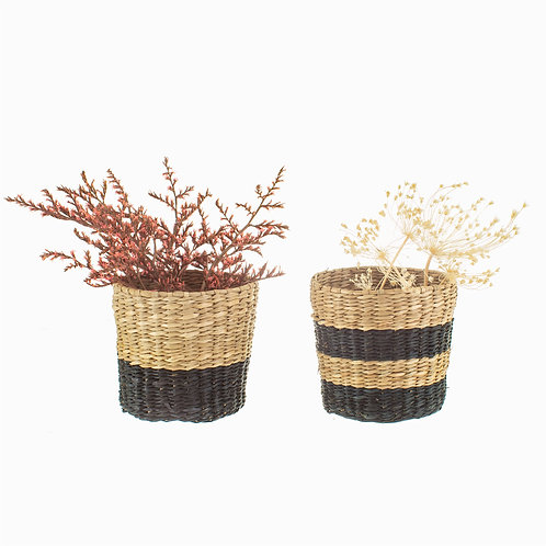 Sass and Belle Mini Seagrass Planters - Set of 2