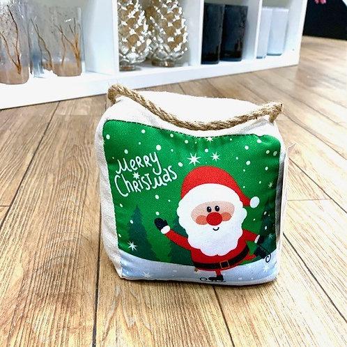 Santa Claus Festive Door Stop - Merry Christmas