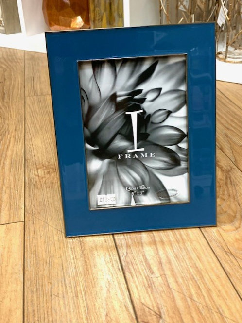 "Blue Ceramic Photo Frame 5"" x 7"""