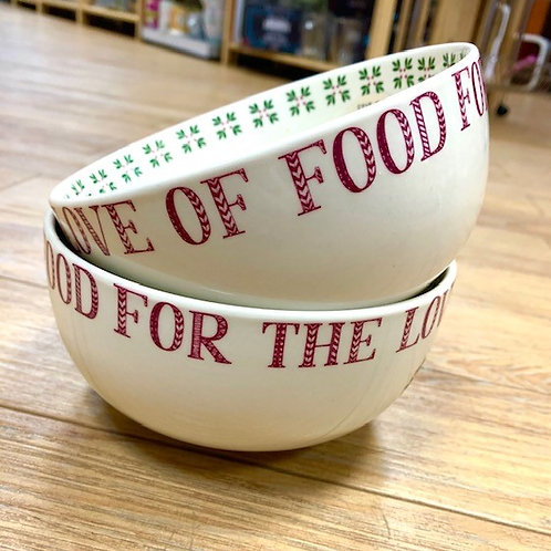"""For The Love of Food"" Bowl"