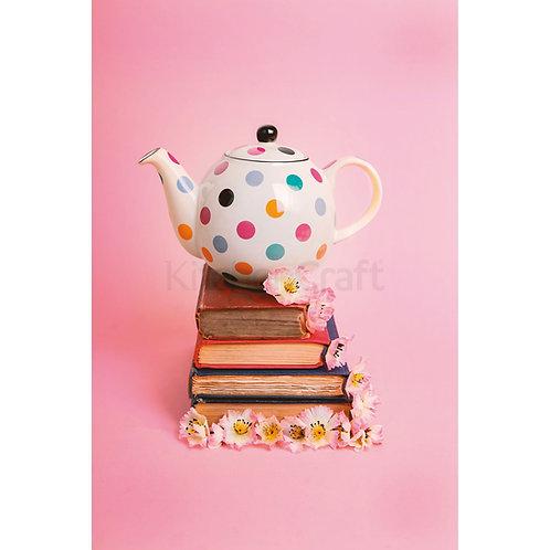 London Pottery Farmhouse 6 Cup Teapot White Spots