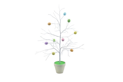Gisela Graham Pastel Egg Twig Tree Easter Decoration 55cm