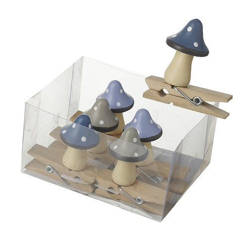 Heaven Sends Wooden Mushroom Peg Set Pack of 6