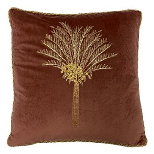 Desert Palm 50x50cm Plush Cushion Rock Rose Gold