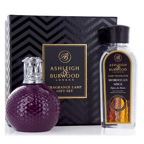 ASHLEIGH & BURWOOD: FRAGRANCE LAMP GIFT SET - DAMSON IN DISTRESS & MOROCCAN SPIC