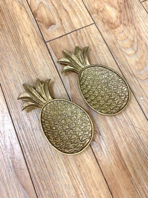 Gisela Graham Brass Pineapple Trinket Tray