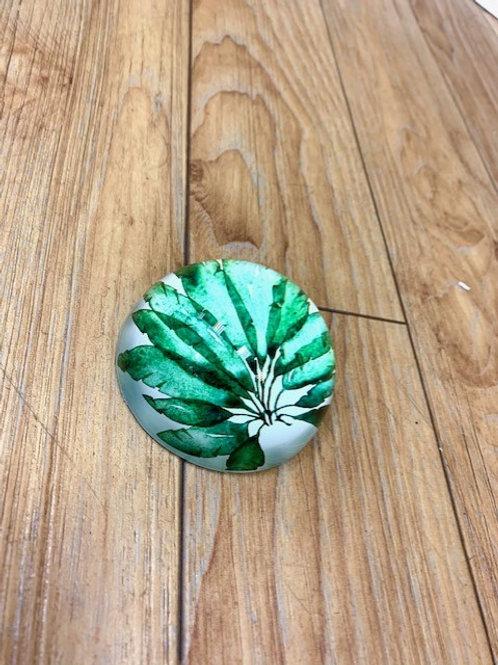 Gisela Graham Banana Leaf Glass Paperweight