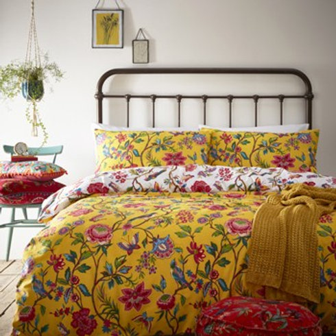Paoletti Riva Pomelo Yellow Kingsize Duvet Set