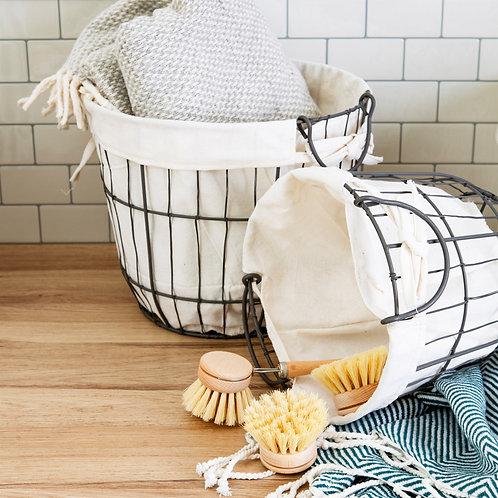 Sass and Belle Round Wire Storage Baskets Set 2