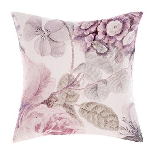 Ellaria Blush Pink Floral Cotton Square Cushion 50cm x 50cm