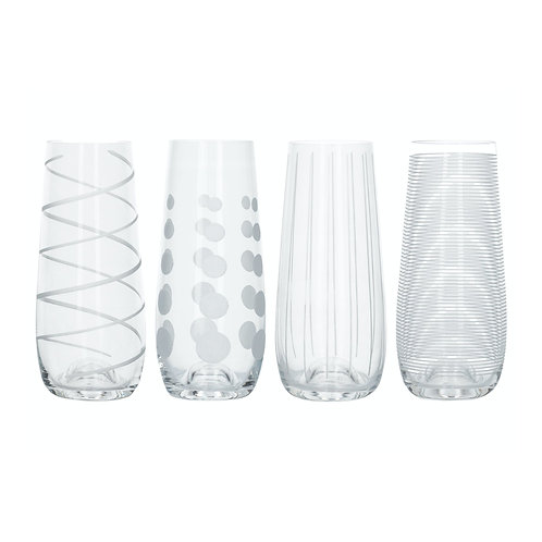 Mikasa Cheers Stemless Wine Flute - Vertical Stripes