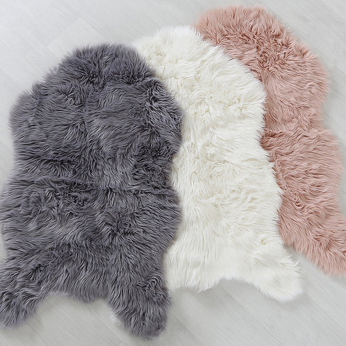 Faux Sheepskin Rug - Blush