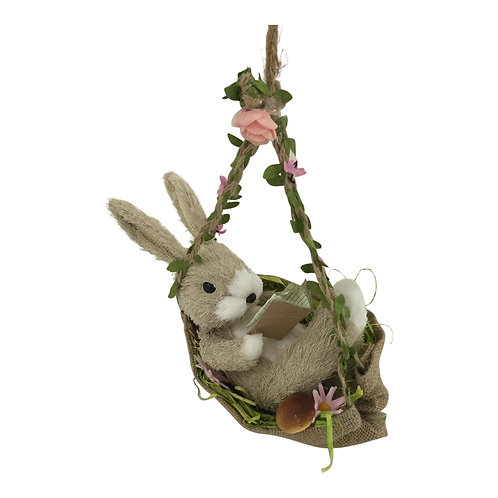 Heaven Sends Brush Easter Bunny Rabbit in a Swing