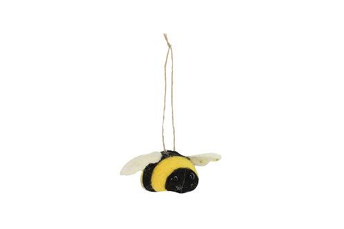 Gisela Graham Hanging Wool Mix Bee Easter Decoration