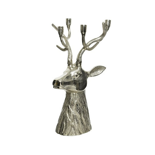 Stunning Aluminium Large Stags Head Candle Holder