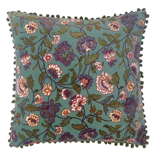 Riva Home Ceylon Cushion - Aqua 50x50cm