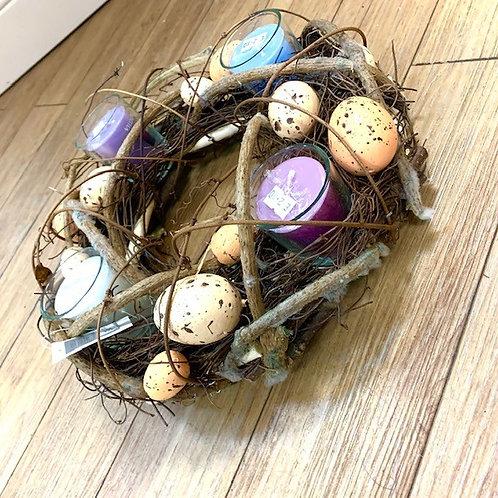 Gisela Graham Willow and Eggs Easter Table Centre Tealight Holder