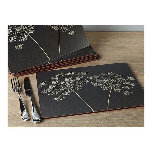Silhouette Pack of 6 Premium Placemats