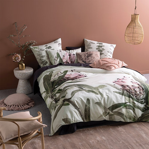 Alice Pink Green White Duvet Set By Linen House 100% Cotton Double