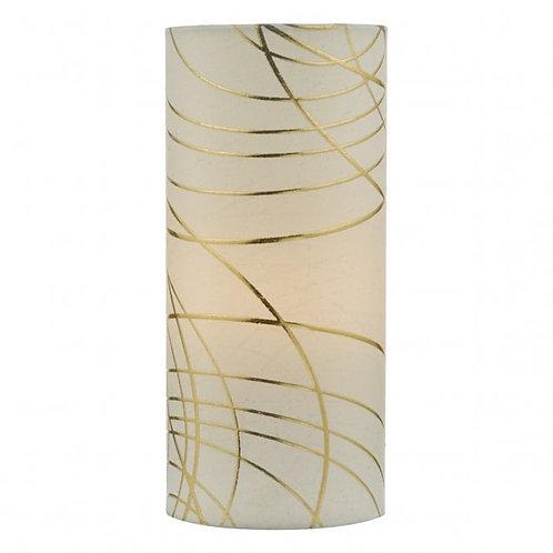 DAR Lighting Irina Ivory and Gold Swirl Table Lamp