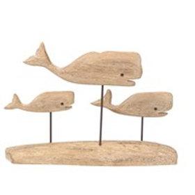 Gisela Graham Driftwood Whale Trio