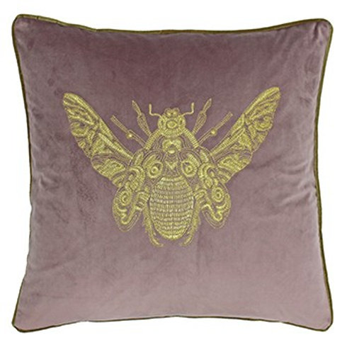 Cerana Moth Cushion in Dusky Blush by Riva Home 50x50cm