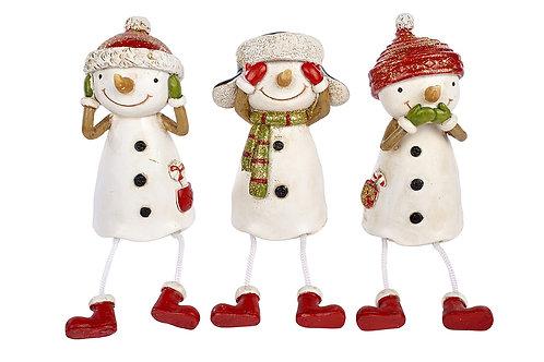 Set of 3 Cheeky Snowmen - Overshelf Hangers