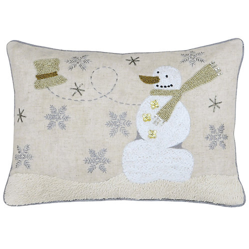 Riva Home Advent Snowman Oblong Cushion 35x50cm