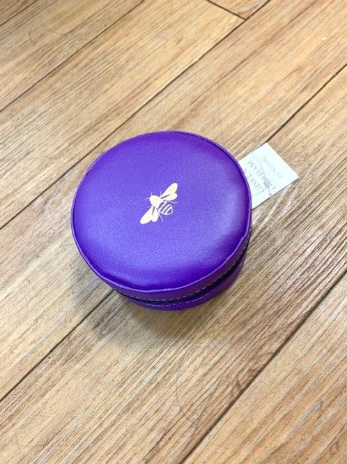 Gisela Graham Purple Bee Travel Jewellery Case