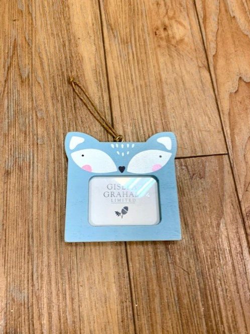 Gisela Graham Forest Friends Wood Mini Photo Frame - Fox