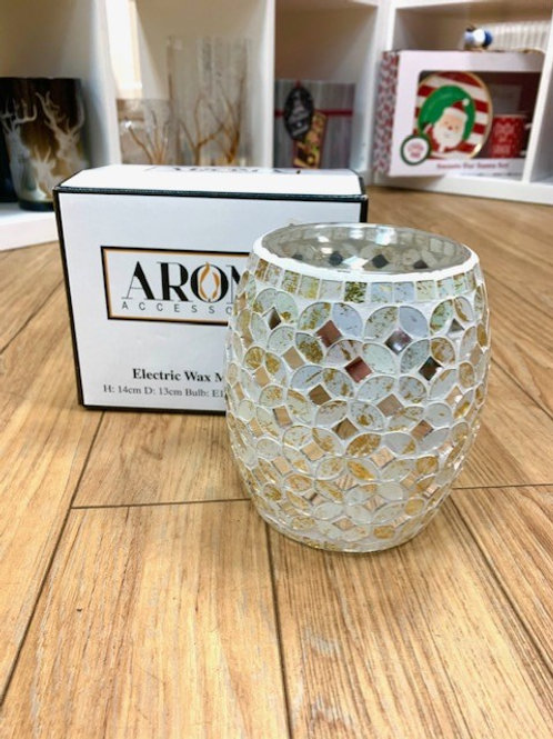 Aroma Electric Wax Melt Burner - Silver Mosaic