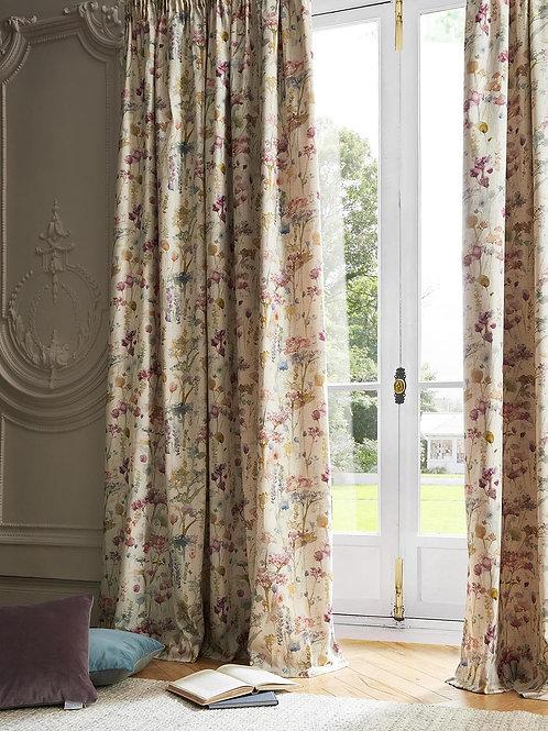"Voyage Maison Luxury Ready Made Curtains Ilinizas Poppy Design 66""x72"""