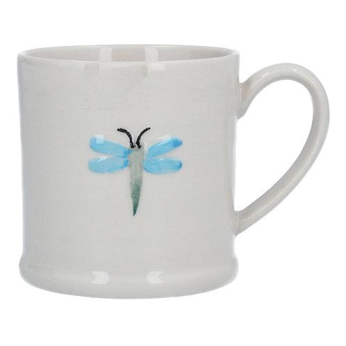 Gisela Graham Ceramic Mini Mug - Blue Dragonfly