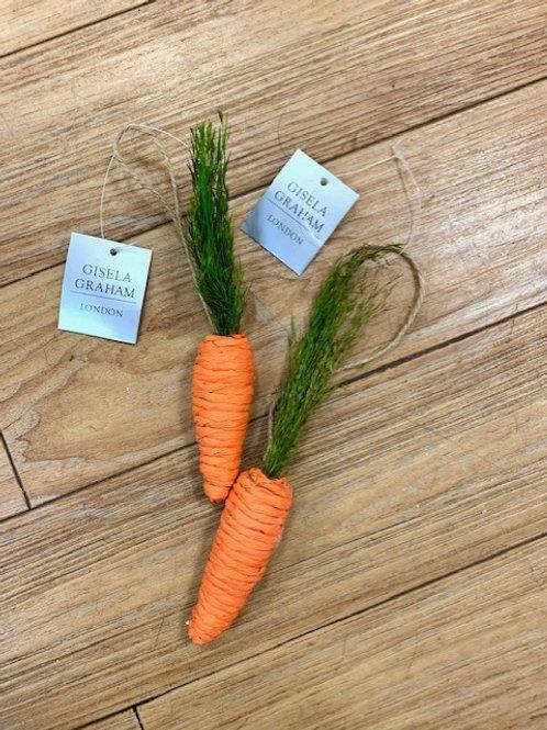 Gisela Graham Easter Carrot Hanger Decoration