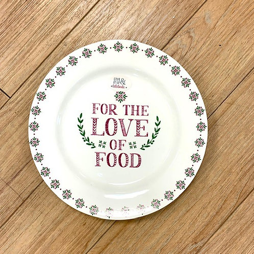"""""""For The Love of Food"""" Side Plate"""