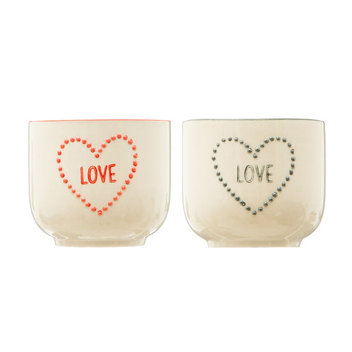 Sass and Belle Love Heart Planters Set of 2