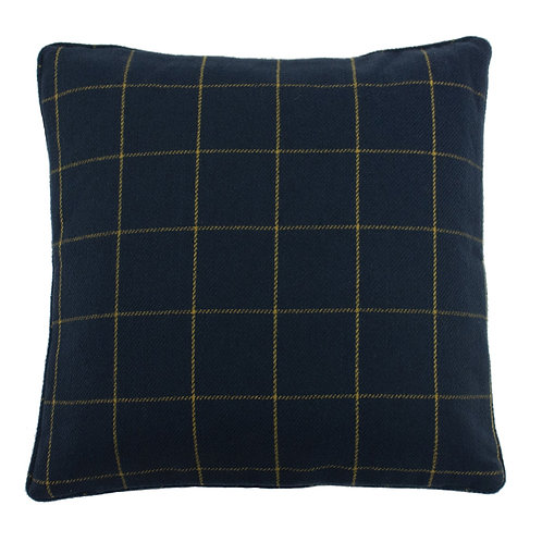 Ellis Navy Square Cushion 45cm x 45cm by Riva Home