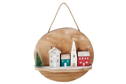 Christmas Village Hanging Plaque