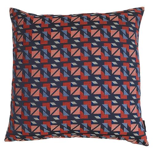 Riva Home Prague Cushion - Teal/Pink - 50x50cm