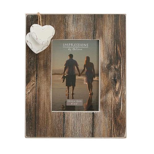 """Hestia Distressed Wood Photo Frame 5""""x7"""""""