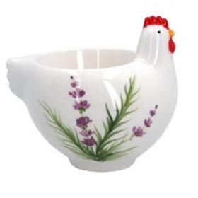 Gisela Graham Lavender Ceramic Hen Egg cup