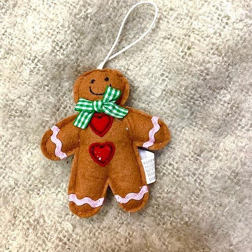 Gisela Graham Felted Padded Gingerbread Man