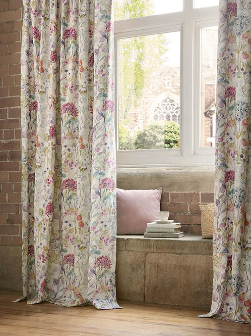"""Voyage Maison Luxury Ready Made Curtains Country Hedgerow Lotus Design 90""""x90"""""""